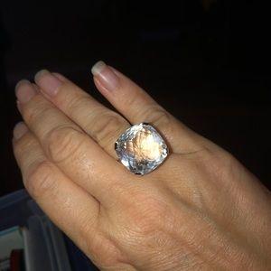 🔥💍 Huge Swarovski Cushion Cut Crystal Ring 🔥💍